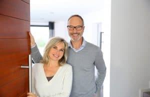 senior couple confident smiles